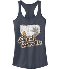 fifth sun tom and jerry retro distressed beach bandits juniors racerback tank
