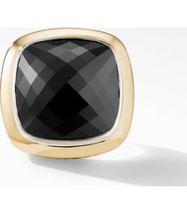 david yurman albion(r) statement ring with 18k gold and champagne citrine or reconstituted turquoise in black onyx at nordstrom