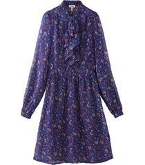 vestido floral corbatín azul nicopoly