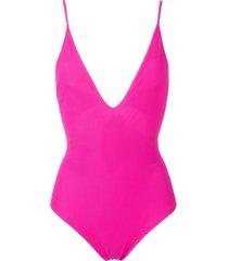 gloria coelho mesh swimsuit - pink