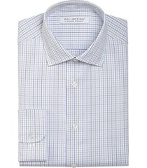 collection by michael strahan active wear classic fit dress shirt blue & tan check