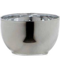 porta vela em vidro henan circular 13cm transparente e prata