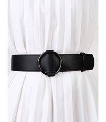 o-ring pu leather waist belt