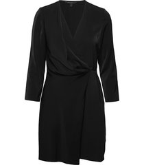 drape-front dress dresses wrap dresses svart banana republic