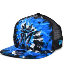 new era miami marlins tie dye mesh back 9fifty cap