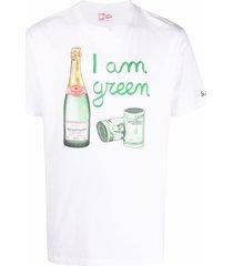 mc2 saint barth champagne money print t-shirt - white