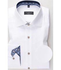 eterna heren overhemd oxford navy en print details kent comfort fit