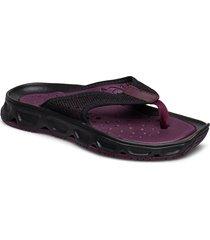 shoes rx break 4.0 w platta sandaler lila salomon