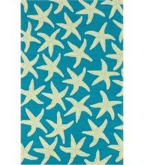 surya rain rai-1137 bright blue 8' x 10' area rug, indoor/outdoor