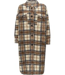 isabel marant étoile gabrion wool check all over coat
