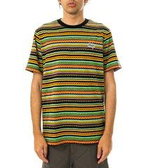 huf t-shirt uomo topanga s/s knit top poppy 7112mc000010.poppy