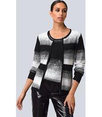 vest alba moda wit::zwart