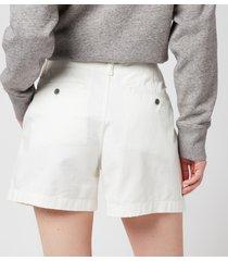 polo ralph lauren women's slim chino shorts - warm white - us 8/uk 12