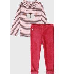 conjunto rojo-blanco boboli