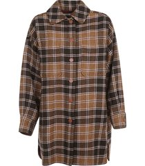 see by chloé checked coat