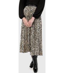falda negro-beige mng