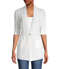 loro piana women's belted open-front cardigan - white - size s