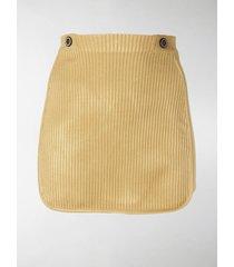 gcds ribbed mini skirt