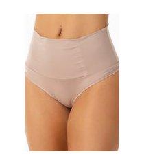 calcinha cinta modeladora cós duplo cintura alta nude basicochic