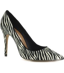 tacón alto zebra negro bl perugia