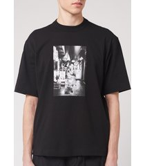 y-3 men's alleway graphic short sleeve t-shirt - black - l