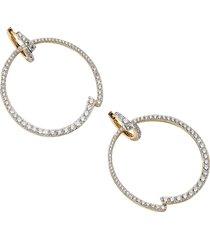 adriana orsini women's 18k goldplated & cubic zirconia frontal huggie earring