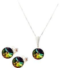 conjunto rainbow swarovski vitral medium joyas montero