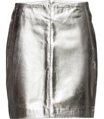 elinor skirt 10295 kort kjol silver samsøe samsøe