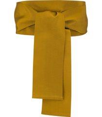 sara roka wrap sash belt - yellow