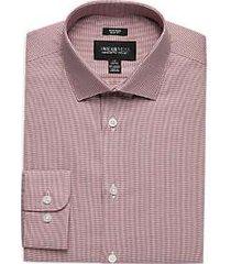 awearness kenneth cole burgundy woven slim fit dress shirt