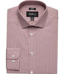 awearness kenneth cole burgundy woven slim fit dress shirt