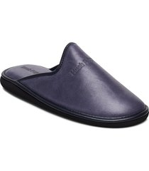 nappa lthr upper slippers tofflor blå hush puppies