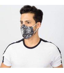 máscara lavável tripla camada com feltro batman comic emporio alex malha tnt multicolorido
