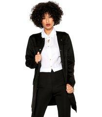 casaco sobretudo facinelli by mooncity bolsos preto - kanui