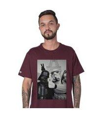 camiseta stoned star wars selfie bordô