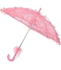 sposa handmade flower girls battenburg merletto parasol ombrello sun party party