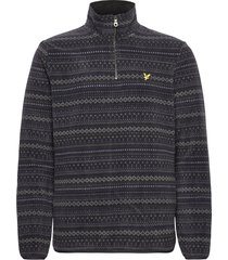 fairisle fleece half zip sweat-shirts & hoodies fleeces & midlayers svart lyle & scott