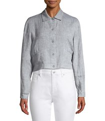 organic linen cropped jacket