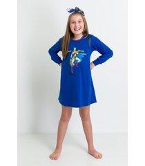 camisola manga longa acuo camisola manga longa azul - azul - menina - dafiti
