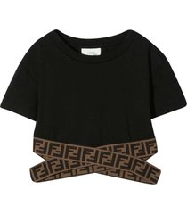 fendi black top with logo