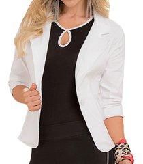 blazer gaby blanco  para mujer croydon