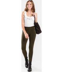 aj front seam zip leggings - dark olive