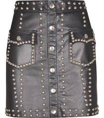 giuseppe di morabito studded leather skirt