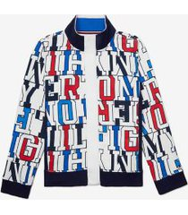 tommy hilfiger boy's adaptive hooded sailing jacket bright white - m