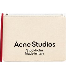 acne studios malachite canvas large wallet slgs000132