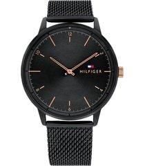 reloj negro tommy hilfiger