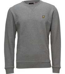 crew neck sweatshirt sweat-shirt trui grijs lyle & scott