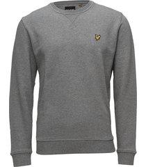 crew neck sweatshirt sweat-shirt trui grijs lyle & scott