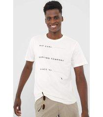 camiseta rip curl black list off-white