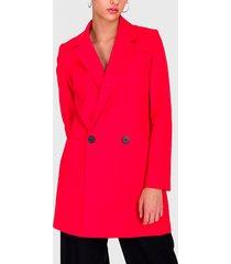 abrigo io rojo - calce regular